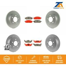 Front Rear Brake Coated Disc Rotors And Semi-Metallic Pads Kit 2004 Ford F-150