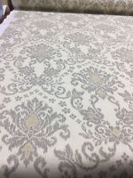 Romance Damask Smoke Off White Gold Cotton Print Waverly By The Yard