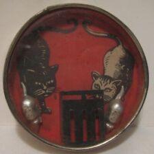 Old 1930s German Cat & Mouse Dexterity Palm Puzzle