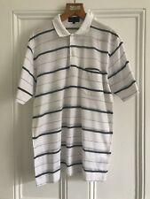 Dunhill Vintage Shirt Sleeve White/grey Striped Polo Shirt Genuine Italy M/L