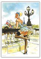 Ex-libris MEYNET BD Pin up Paris 249ex signé format A4