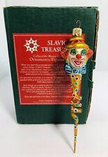 Slavic Treasures Retired Glass Ornament - Twisted Clown Rare�