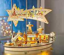 Advents-Teelichthalter aus Holz In Scherenschnitt-Optik Mit LED-Beleuchtung