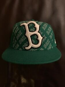New Era Boston Red Sox 59Fifty Kelly Green MLB Team Fitted Hat Assorted Sz 7