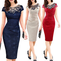 Women Contrast Party Cocktail Wear Office Business Evening Pencil Dress Ths01