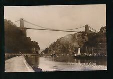 Gloucestershire CLIFTON Bridge paddle steamers & landing stage 1920 RP PPC
