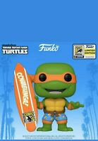 Funko Pop TMNT Michelangelo With Surfboard 2020 SDCC SHARED Exclusive In Hand