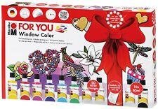 "Marabu Window Color Set ""fun & fancy""  FOR YOU, Fenstermalfarben 1402.2500"