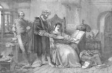WRITERS. The first impression, antique print, 1850