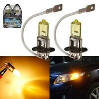 H3 Yellow 55W Xenon HID Halogen 3900K Car Fog Headlight Light Bulb Auto 1/2/4