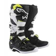 Alpinstars Tech 7 Motocross Boots Black White New With Tags Size 10