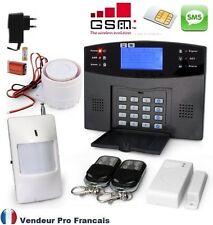 Kit Alarme Maison Sans Fil GSM SMS Auto Appel Anti Vol 1-> 99 Zones Couleur Noir