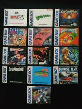 13 Original Game Boy Game Manuals