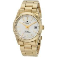 Gold-plated Stainless White Dial Watch Unitron Enterprise 3826 Mens Ip