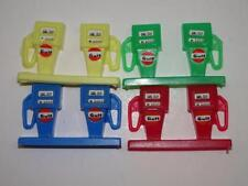 MIDGETOY 1960'S SET OF 4 PLASTIC GAS FUEL PUMPS W/DECALS. NOS.