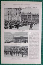 1900 BOER WAR ERA NAVAL BRIGADE IN LONDON PRINCE OF WALES MR GOSCHEN MARINES
