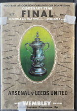 1972 FA Cup Final - Arsenal v Leeds United football programme