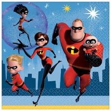 INCREDIBLES 2 LUNCH NAPKINS (16) ~ Birthday Party Supplies Serviettes Disney