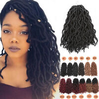 12'' Curly Goddess Locs Twist Crochet Braid Faux Locks Synthetic Hair Extensions