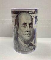 "Tin Money Piggy Bank Savings 5"" Franklin Coin Jar Box Saver FREE SHIPPING USA"