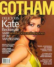 Gotham 5/04,Kate Beckinsale,Hugh Hefner,Carly Simon,Patrick Stewart,May 2004,NEW