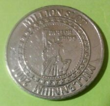2000 Parlor Cross Hard To Find Liberty & Flag Logo Token Great For Collection!