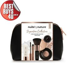 NUDE BY NATURE SIGNATURE COLLECTION 4 PIECE GIFT SET + MAKEUP BAG - LIGHT/MEDIUM