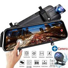 "10"" HD 1080MP Car DVR Dash Cam Dual Lens Video Camera Mirror Recorder Rearvie US"