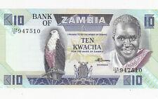10 KWACHA UNC BANKNOTE FROM ZAMBIA 1986 PICK-26e