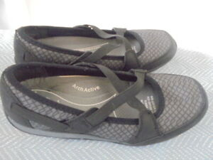 Homy Ped Comfort Womens Black Grey Style Mandy Active Shoes Size 6