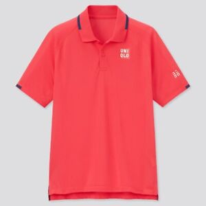 Uniqlo Size Medium Roger Federer Tennis Polo Shirt BNWT French Open Red 2021 New