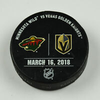 Vegas Golden Knights Warm Up Puck Used 3/16/18 VGK Vs Minnesota Wild Game