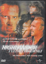 Highlander - L'ultimo immortale DVD in Italiano Sean Connery,Christopher Lambert