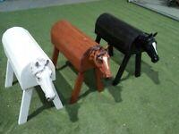 Holzpferd, Voltigierpferd, Sattelhalter, 3D Kopf, auch für outdoor