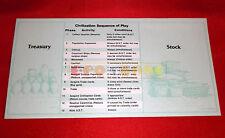 PRO-MEMORIA Player Mat Gioco da Tavolo CIVILIZATION Avalon Hill '80 RICAMBIO C5
