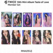 TWICE 10th Mini Album Taste of Love Official Photocard Mina KPOP K-POP