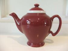 Vintage McCormick Tea Baltimore Md Teapot Burgundy Made in USA Tea Pot Infuser