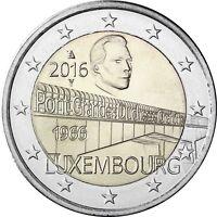 Luxemburg 2 Euro 2016 Großherzogin Charlotte Brücke Gedenkmünze bankfrisch