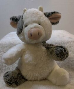 "Aurora Black & White Baby Cow Plush 12"" Tall"