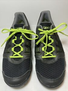 Asics Gel Ace Pro Mens Sz 8 Black Green Golf Spikes Cleats Shoes Excellent Cond