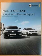 RENAULT MEGANE COUPE & RENAULTSPORT car sales brochure UK catalogue, August 2015