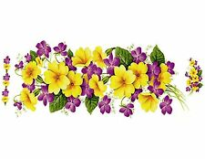 "1 Primrose Flower Wrap Wraparound 7 1/2"" X 3 1/4"" Waterslide Ceramic Decal Bx"