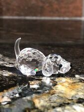 Swarovski Glass Crystal Beagle Puppy Frosted Tail 7619 000 004 Perfect