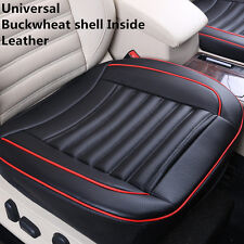 PU Leather Car Seat Cover With Buckwheat Shell Inside Good For Health 3D Design