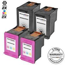 4pk Black & Color Printer Ink Cartridge for HP 61 61 Deskjet 3050 3050a