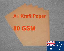 500 X A4 Kraft Paper Brown 80GSM All Wood Pulp Made