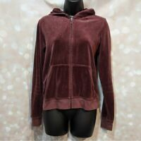 *Vintage* Juicy Couture Grape Purple Velour Hoodie Hooded Sweatshirt XL Juniors