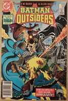 Batman and the Outsiders 22 Mark Jewelers Variant FN Newsstand 1985 DC Comics
