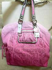 COACH 15312 POPPY STORYPATCH LOGO RHINESTONES SHOULDER BAG CROSSBODY Pink Ombre