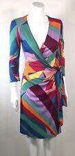 DVF Diane Von Furstenberg DIANA Wonder Woman Print Silk Wrap Dress Size 4